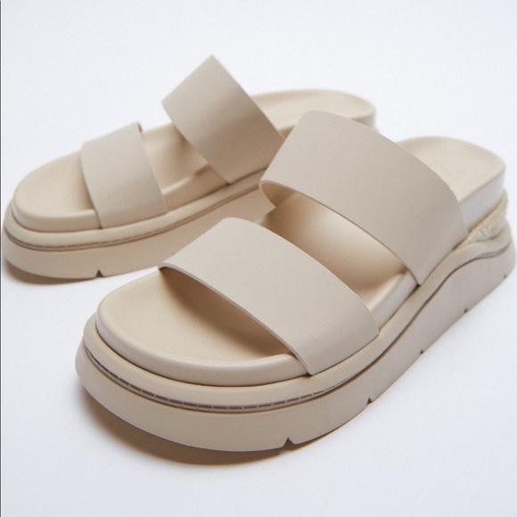 New Zara Platform Sandals